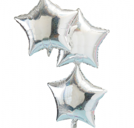 Silver Star Foil Balloons